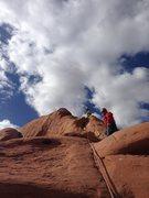 Rock Climbing Photo: Great photo on an easy climb