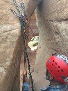 Rock Climbing Photo: Good anchors at final rap station.