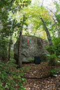 Rock Climbing Photo: This photo shows the general line for 'Voodoo Chil...