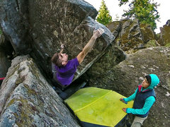 Rock Climbing Photo: A few weeks ago I put up 5 new lines in this littl...