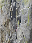 "Rock Climbing Photo: Eric on lead in the infamous ""V""."