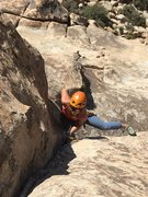Rock Climbing Photo: Emma on the 3rd pitch, her first multi-pitch trad ...
