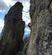 Rock Climbing Photo: Lagazuoi Passo Falzarego