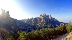 Sant Benet area, where sport climbing was born in Catalonia, in the early 80`s. <br />Montserrat, of course!