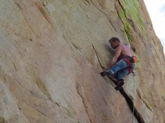 Rock Climbing Photo: Large moves up high