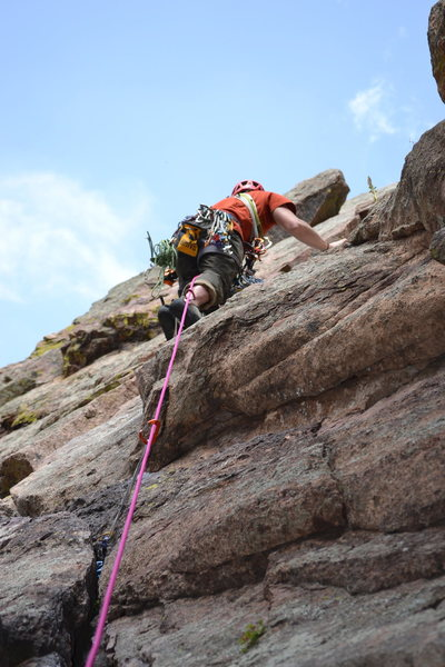 2nd pitch highlight of the climb. Takes plenty of gear.