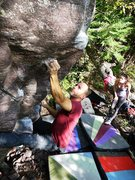 Rock Climbing Photo: Satermo crux move