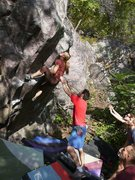 Rock Climbing Photo: erin cruising the milf