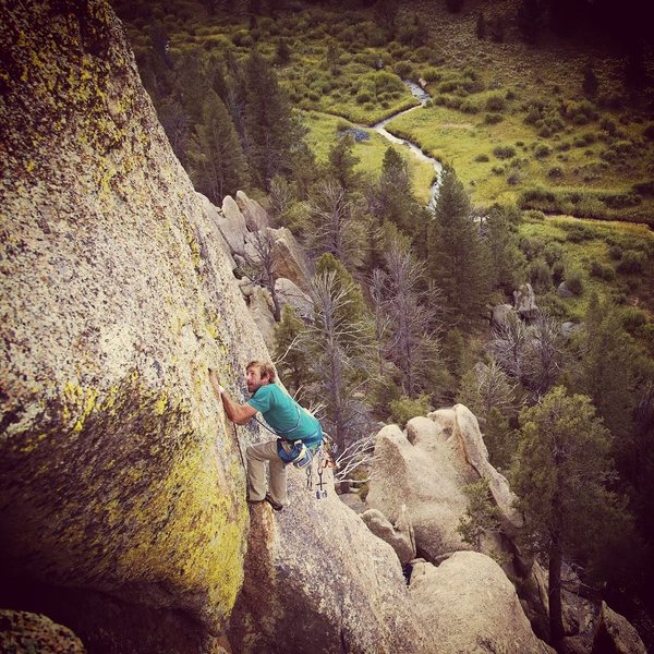 Rock Climbing Photo: On the face exit with a bird beak instead of a bol...