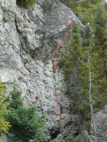 Rock Climbing Photo: Le tango des tomates 5.10b