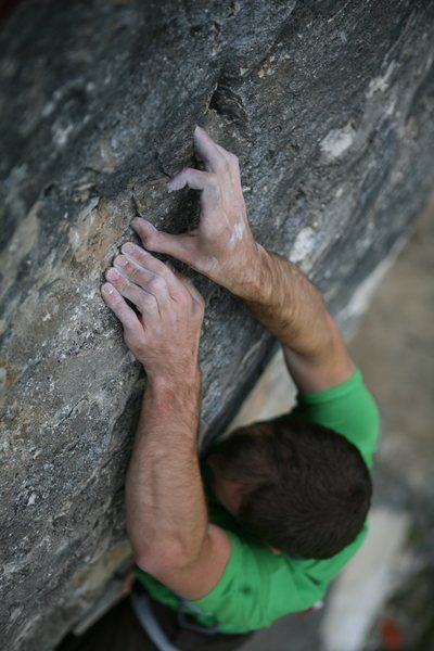 Rock Climbing Photo: Close up of some the lovely holds near the top of ...