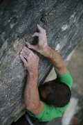 Close up of some the lovely holds near the top of Righteous. Photo by Andrew Burr.