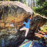 Rock Climbing Photo: Jason Nadeau climbing Wave Goodbye.