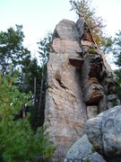 Rock Climbing Photo: Really fun route; makes you look on both sides.