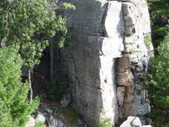 Rock Climbing Photo: Corner where the morning sun meets the shade.........