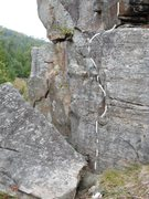 Rock Climbing Photo: Bottom start to the route.