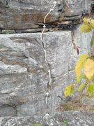 Rock Climbing Photo: Left view of start to Venom.