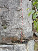 Rock Climbing Photo: Second section of Venom after short starter crack....