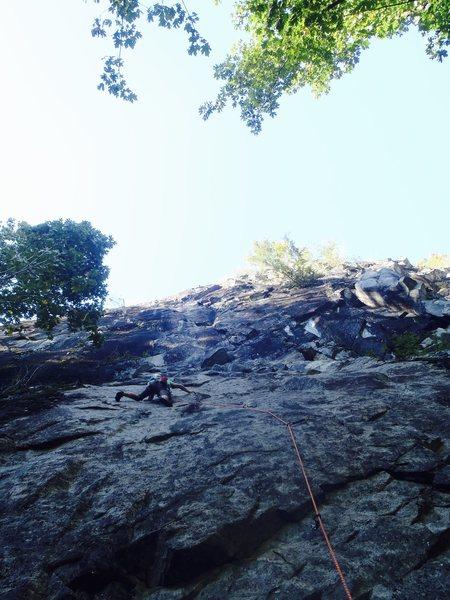 Rock Climbing Photo: Jesse sending the FA.