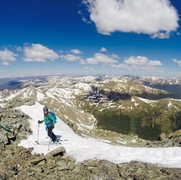 Rock Climbing Photo: Skiing Torrey's Peak (14er) - Tuning Fork