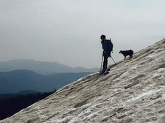 Rock Climbing Photo: St. Mary's Glacier Skiing - w/ the pup