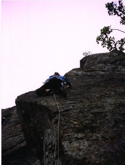 Rock Climbing Photo: Eddie Phay on an early ascent of 'Son Volt Arete' ...