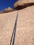 Rock Climbing Photo: Area above the last bolt.