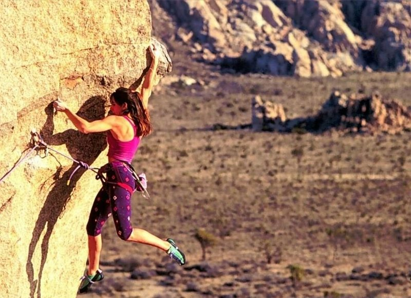 Sylvia Mireles on <em>Sole Fusion</em>, Joshua Tree NP<br> <br> Photographer unknown