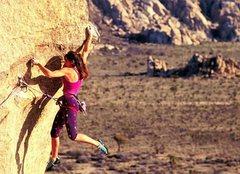 Rock Climbing Photo: Sylvia Mireles on Sole Fusion, Joshua Tree NP  Pho...