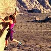 Sylvia Mireles on Sole Fusion (5.12b), Joshua Tree NP<br> <br> Photo by John Mireles