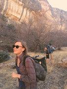Rock Climbing Photo: admiring last chance canyon, NM
