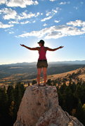 Rock Climbing Photo: Leah on top of the OK Corral cliff. Tons of fossil...