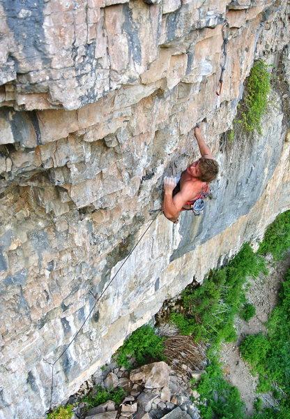 Gentle Ben on the second ascent of El Jefe!