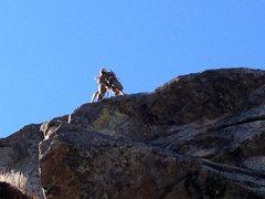 Rock Climbing Photo: On the arête.