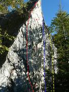 Rock Climbing Photo: A- Liaison d'office 5.9 B- Réchauffement 5.11a C-...