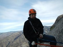 Rock Climbing Photo: Windy day on top of Airy Interlude - The Needles i...
