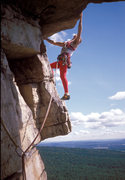 Rock Climbing Photo: Bonnies Roof Direct 5.9 / Gunks