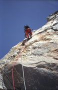 Rock Climbing Photo: Irene's Arete 5.9 / Pitch 4 / Climber: John Bragg