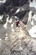 Rock Climbing Photo: IRene's Arete / Pitch 5 / Looking back down the fi...