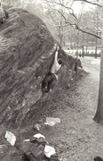 Rock Climbing Photo: Testpiece V6 / Rat Rock / Central Park / Climber: ...