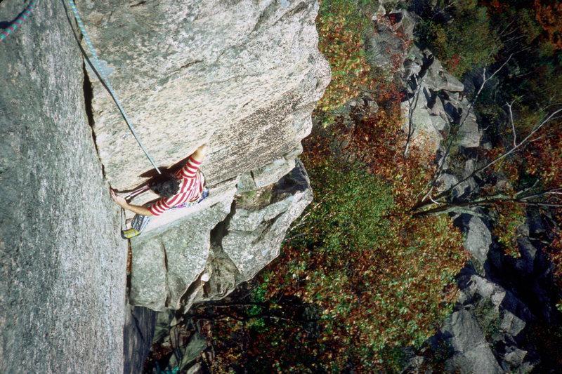 Old Town 5.7 / Precipice Cliff / Acadia National Park / Climber: Steve Hudson