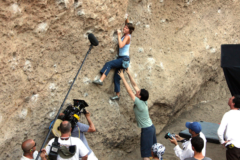 "Planet of the Apes Wall / Malibu Creek State Park / shooting a ""climbing"" episode for the television show NUMB3RS / actors give terrible spots!"
