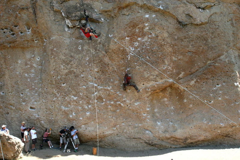 "Monkey Sing, Monkey Do 5.11c / Planet of the Apes Wall / filming an episode of ""NUMB3RS"""