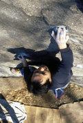 Rock Climbing Photo: Scratching Post V3 / Cat Rock / Central Park / Cli...