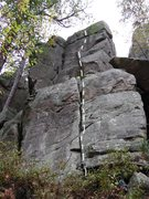 Rock Climbing Photo: Looks easy......puts your skills to the test to fi...