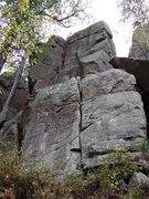 Rock Climbing Photo: Fun corner; use for a warm-up to Cottonmouth.