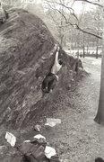 Rock Climbing Photo: Jeff Dahlgren making an early attempt at Testpiece...