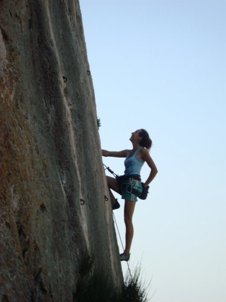 Rock Climbing Photo: Some slab in Vincent Gorge, southern France