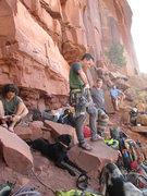 Rock Climbing Photo: rackin up in the creek braj