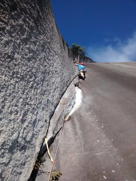 "Rock Climbing Photo: Matt works his way past the ""missing flake&qu..."